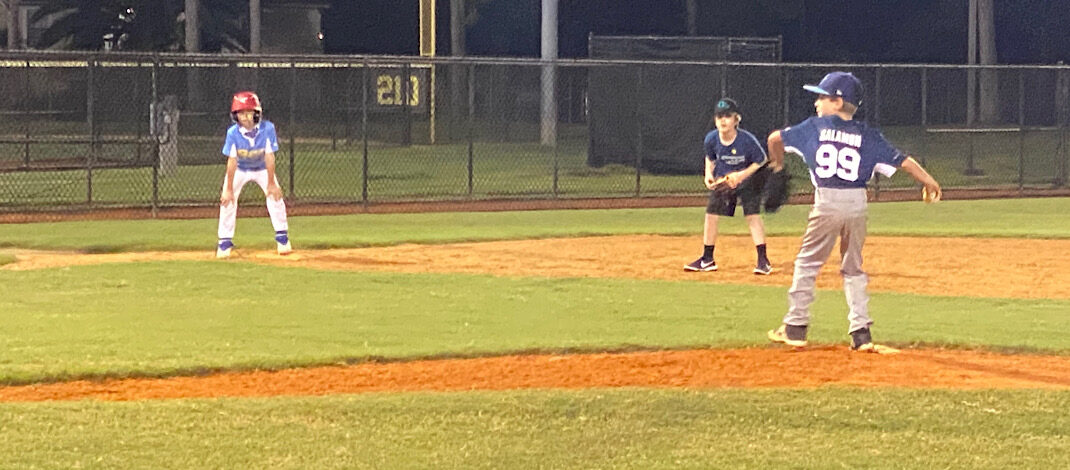 Zev Pitches in First 10U Scrimmage Game